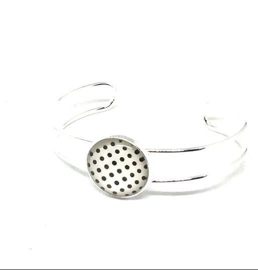 Bracelet pin-up blanc et noir