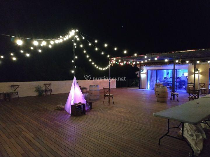 Décoration lumineuse terrasse
