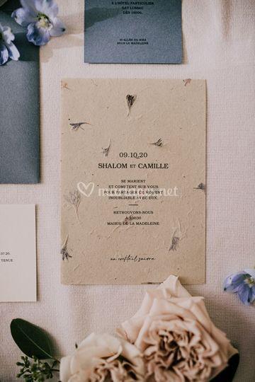 Papier inclusions de fleurs