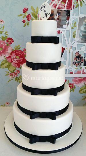 Wedding cake blanc/noir