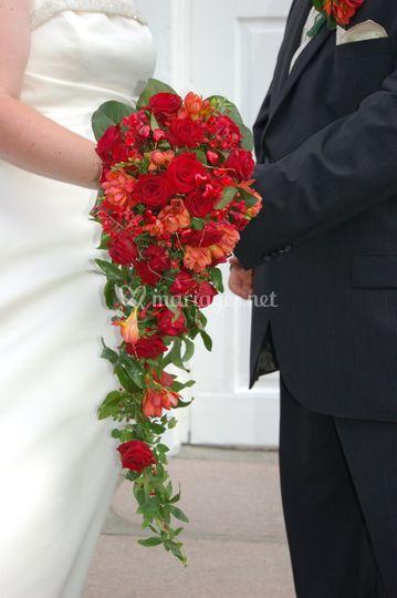 Bouquet mariée tombant