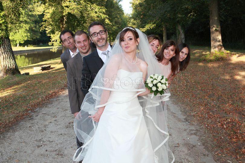 La mariée et les témoins !!!