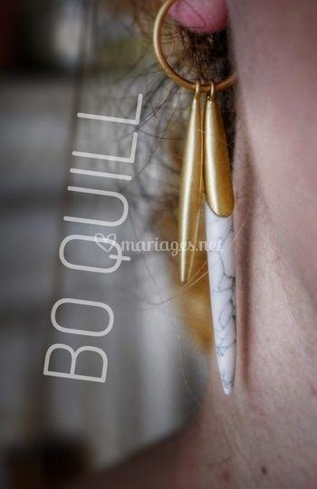 Boucles d'oreilles QUILL
