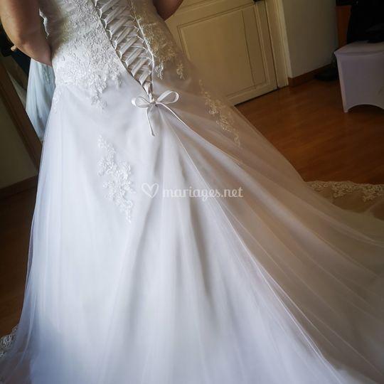Robe de mariée terminée