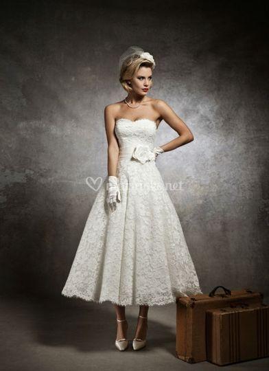 Robe de mariée mi longue