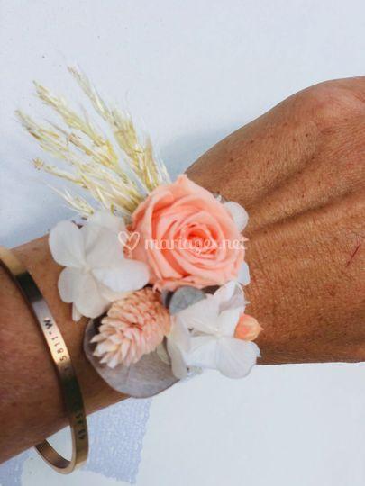 Bracelet en fleurs stabilisées