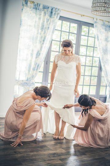 Enfilage de robe