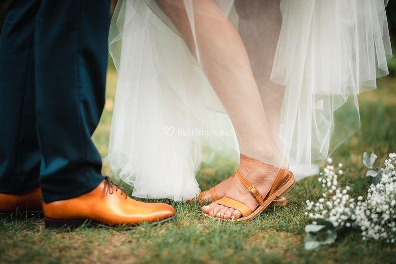Les chaussures des mariés