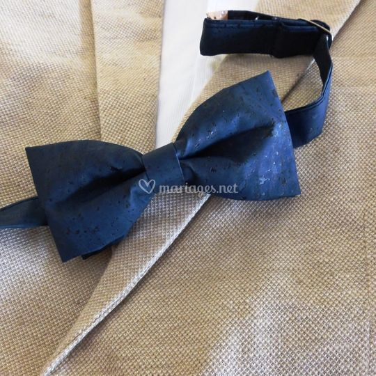 Noeud papillon liège bleu