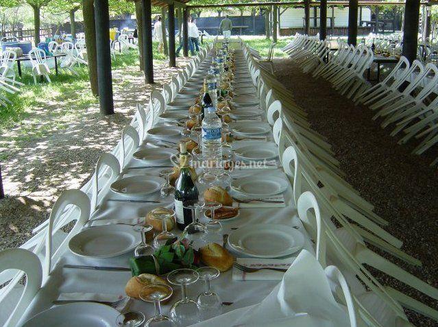 Banquet extérieur