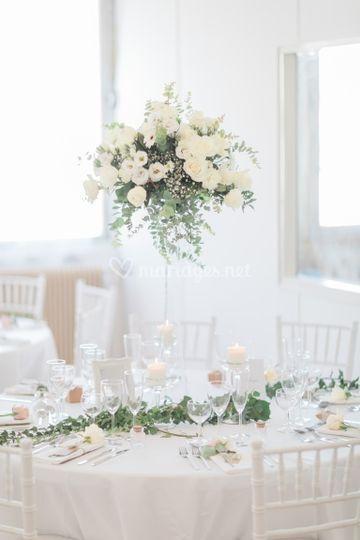 Compo floral vase haut 80cm