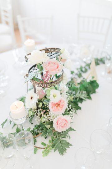 Lanterne oriental fleuri