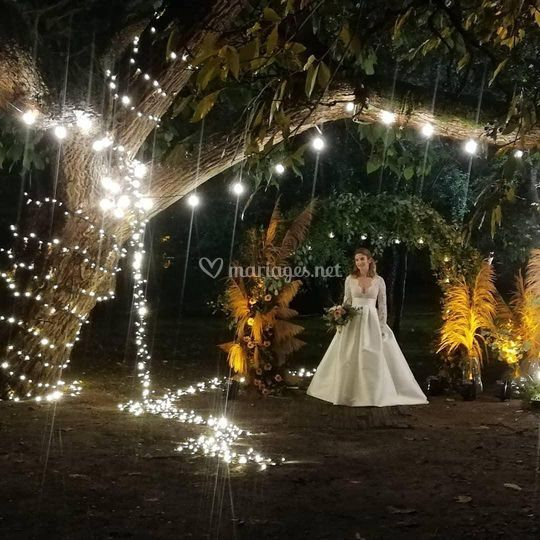 Éclairage mariée