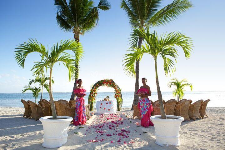 Mariage bord de plage