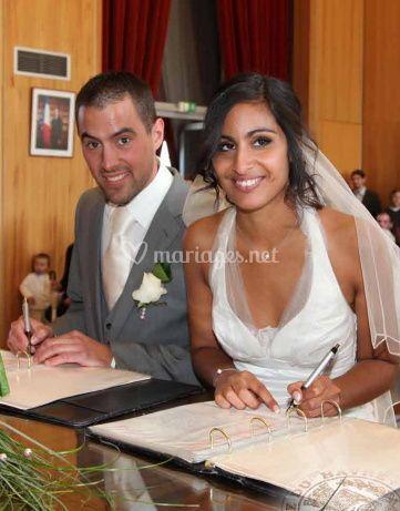 Signature de l'acte de mariage