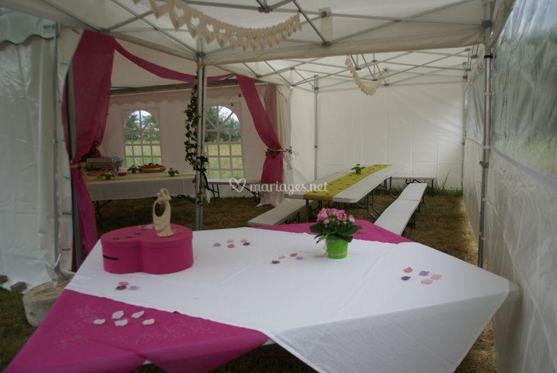 Réception de mariage et décoration de table