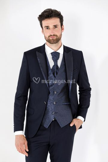 Costume David bleu navy