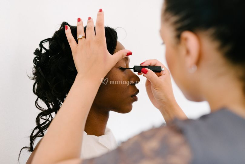 Maquillage de la mariée