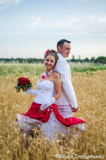 Dans le blé