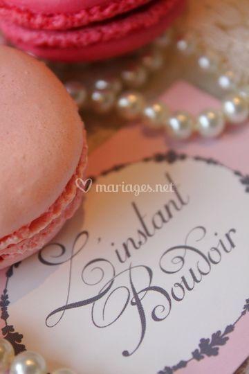 Macarons rose et fruits rouges