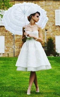 Robe mariée Courte Corolle