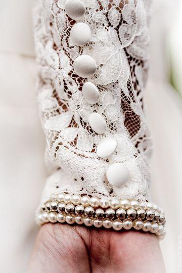 Manche robe mariée Bret