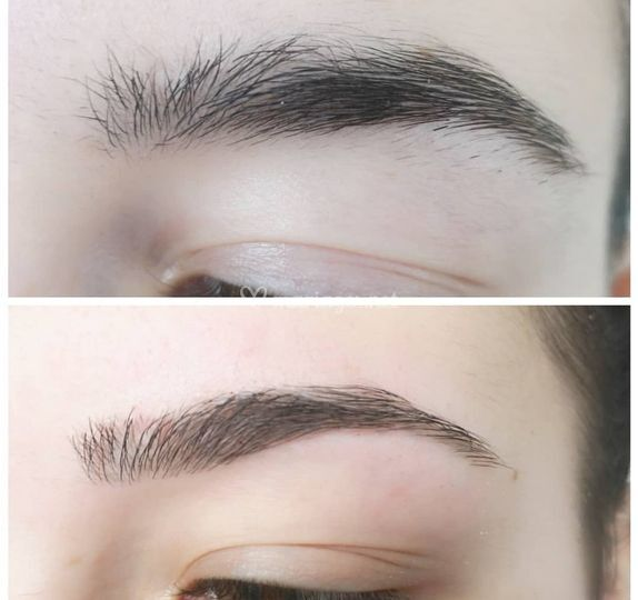 Epilation sourcils au fil