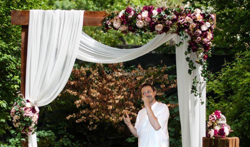 Eric Dochier célèbre une cérémonie