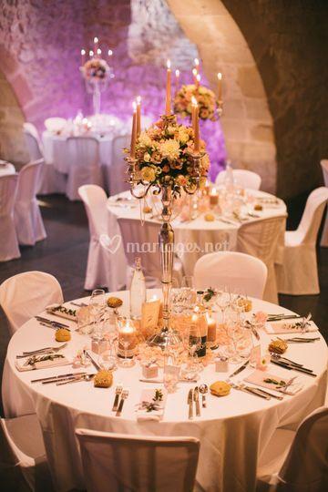 Décoration mariage chandelier