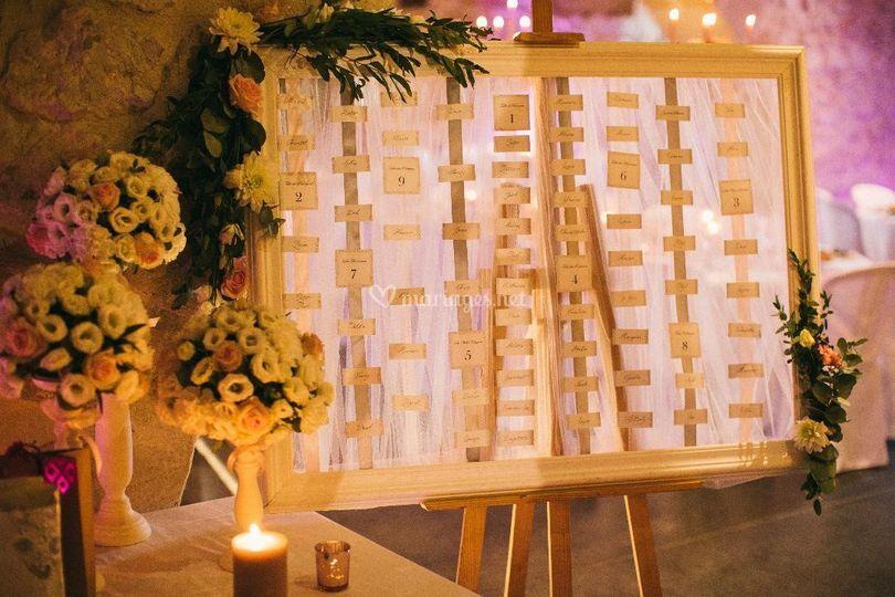 Mariage Plan de table