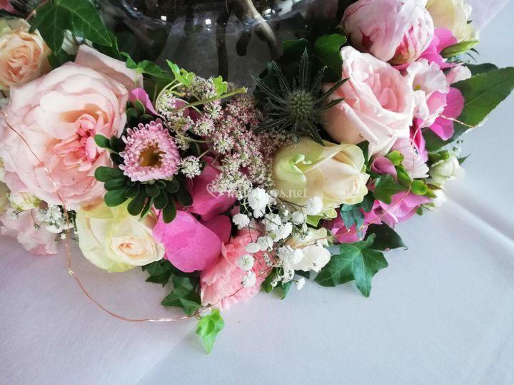 Couronne florale -tables dîner