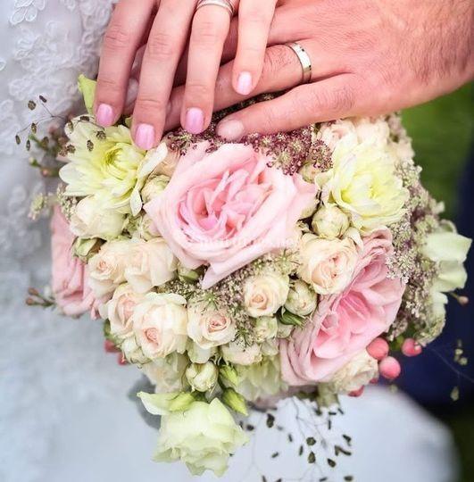 Bouquet mariée roses garden