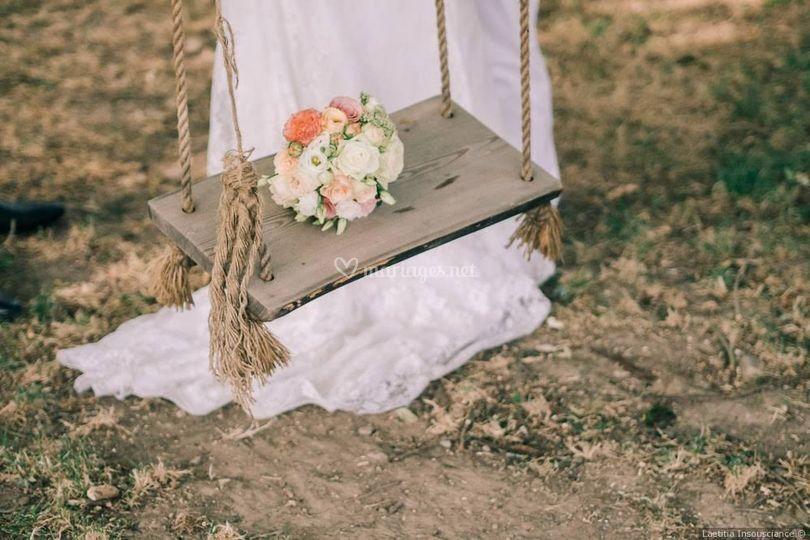 Bouquet mariée boho romantique