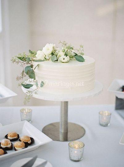 Wedding cake floral champêtre