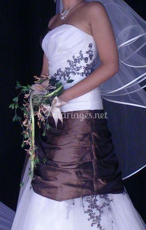 Bouquet de mariée en fleurs artificielles - Nature en Soie