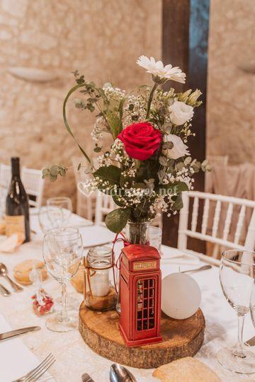 Centre de table mariage C&G