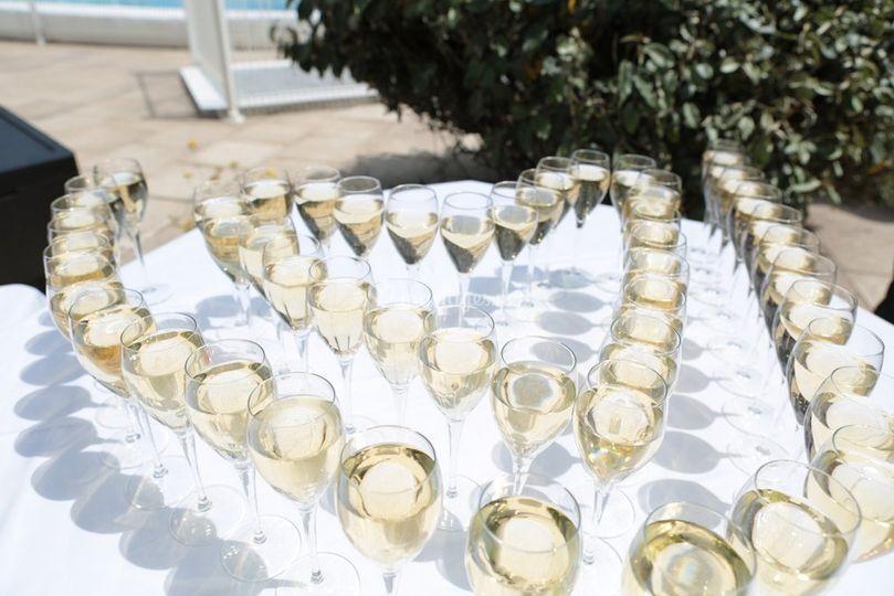 Détail vin d'honneur