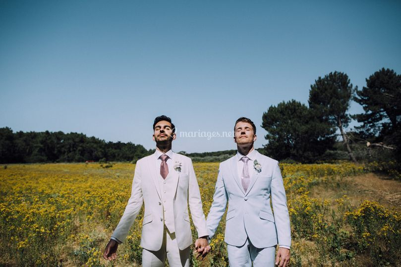 Couple gay mariage - engagement