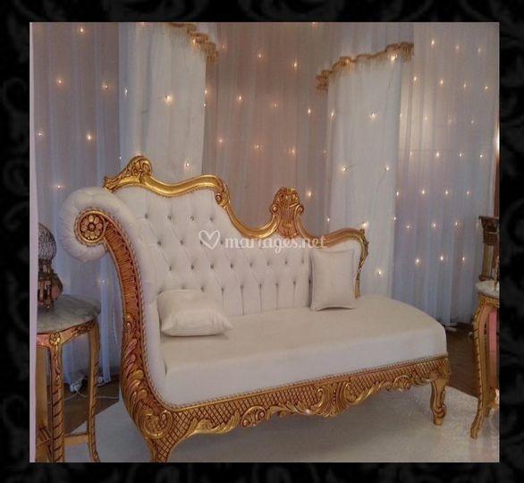 Trône dorée jasmine