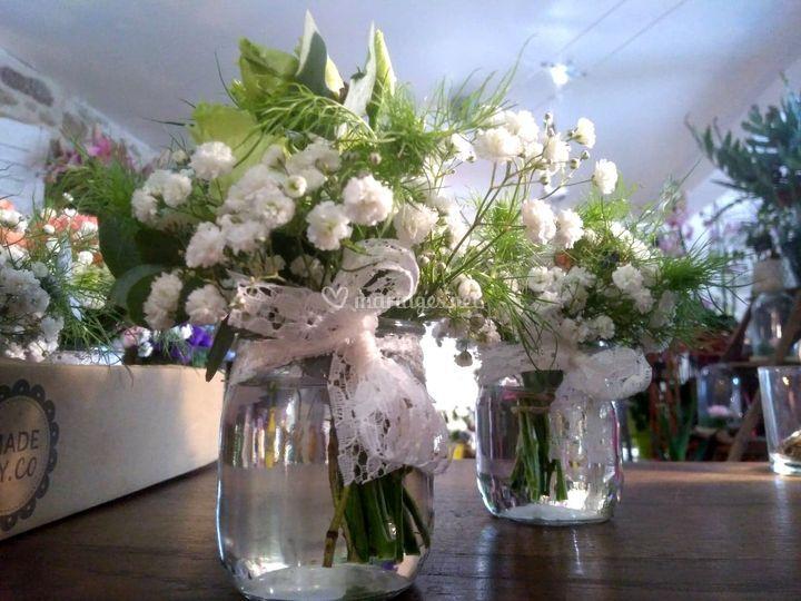 Petits pots fleuris