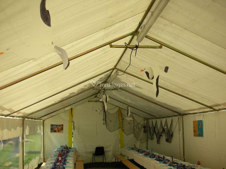 Décoration maritime tente