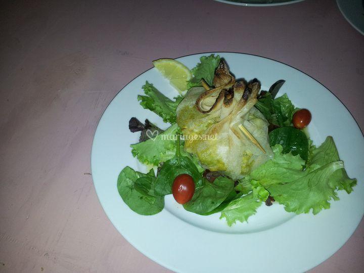 Aumônière de crustacés
