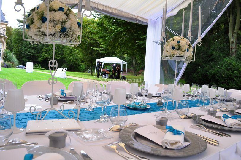 Décoration mariage turquoise