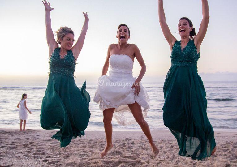 Jump avec ses amies