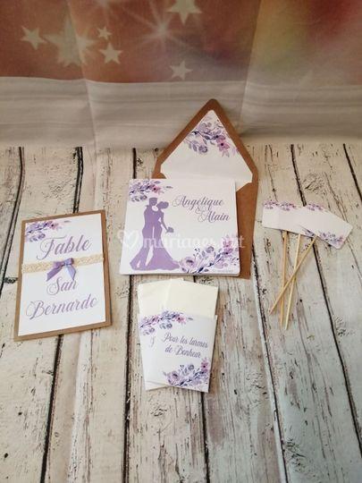 Champêtre lilas collection