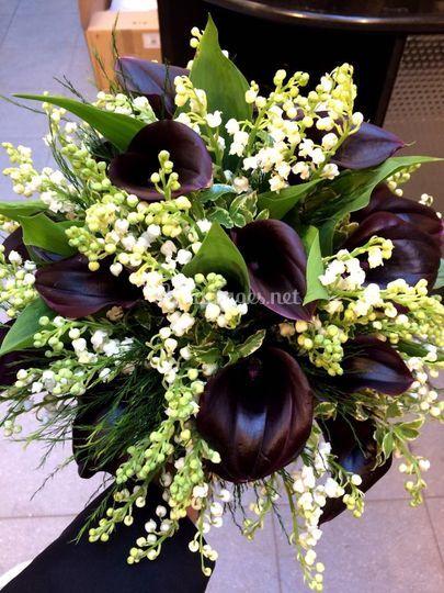 Bouquet de mariée black&white