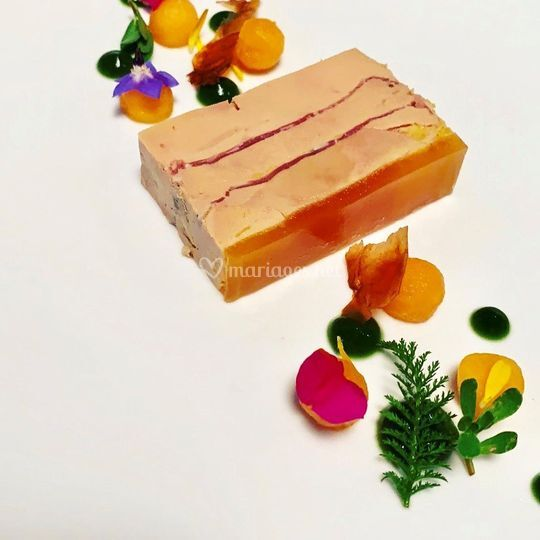 Foie gras melon pesto