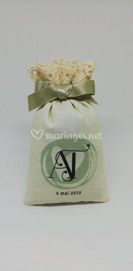 Sachet au logo des mariés