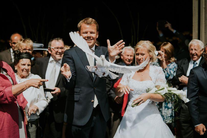 Mariage Lâché de colombe