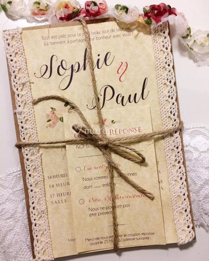 Packaging faire-part mariage